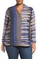 Nic+Zoe Plus Size Women's Arctic Lines Top