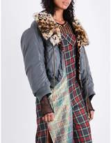 Junya Watanabe Faux-fur-lined satin jacket