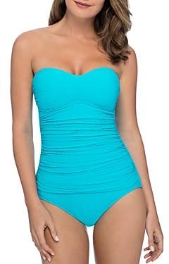 Gottex Ribbons Bandeau One Piece Swimsuit