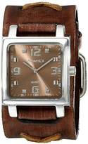 Nemesis Unisex 516BFXBB Lite SQ Series Analog Display Japanese Quartz Brown Watch