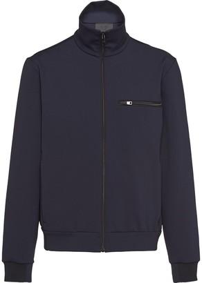 Prada Technical Fleece Zip-Up Cardigan