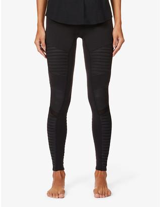 Alo Yoga Moto high-rise stretch-jersey leggings