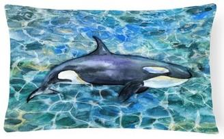 Orca Latitude Run Claraville Killer Whale Lumbar Pillow Latitude Run