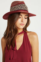BCBGeneration Tribal Panama Hat - Red