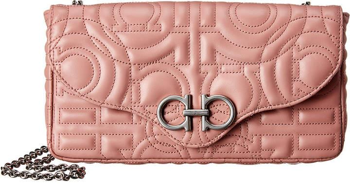 Salvatore Ferragamo Gancini Quilted Leather Mini Bag