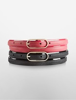 Calvin Klein Two Skinny Leather Belts