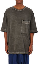 Yohji Yamamoto Men's Oversized Cotton-Linen T-Shirt