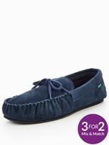 Dunlop Moccasin Lace Slipper - Navy