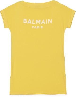 Balmain Logo T-Shirt Dress