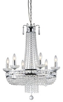 """Home Accessories Crystal 20"""" 7-Light Indoor Pendant Lamp with Light Kit"""