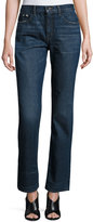 Helmut Lang Boyfriend Faded Denim Jeans, Dark Blue