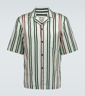Acne Studios Candy striped short-sleeved shirt