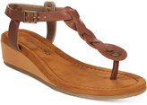 BearPaw Gia T-Strap Wedge Sandals