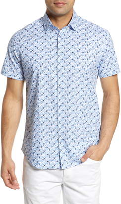 Stone Rose Regular Fit Bird Print Shirt