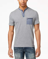 INC International Concepts I.n.c. Men's Contrast Pocket Henley, Created for Macy's
