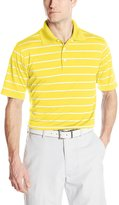PGA TOUR Men's Golf Air Flux 2 Color Stripe Short Sleeve Polo Shirt
