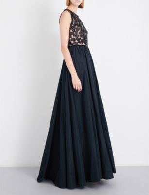 Jenny Packham Cutout crystal-embellished tulle and taffeta gown