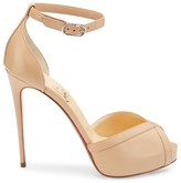 Christian Louboutin Very Cathy Leather Platform Sandals