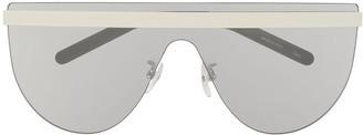 Courrèges Eyewear Flat Top Shield Sunglasses