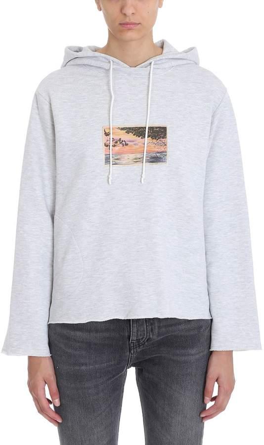 Golden Goose Grey Hoodie Sweatshirt
