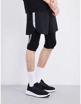 Blackbarrett Reflective-stripes Cropped Stretch-jersey Leggings