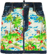 DSQUARED2 Hawaiian print mini skirt