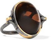 Bottega Veneta Oxidized Sterling Silver Quartz Ring - 11