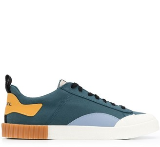 Diesel Colour-Block Logo Sneakers