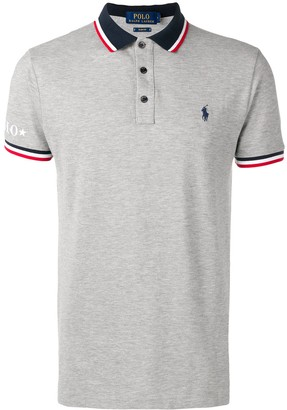 Polo Ralph Lauren stripe detail polo shirt