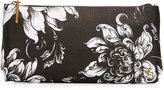 Elliott Lucca Floral Three-Way Clutch Bag, Black/White