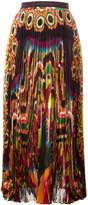 Roberto Cavalli abstract print pleated skirt