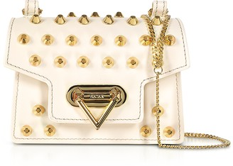 Salar Bebe Studs Leather Mini Shoulder Bag