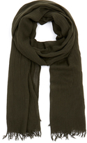Theory Khaki Green Novelty Everyday Scarf