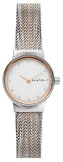 Skagen Freja Two-Tone Stainless Steel Mesh Bracelet Watch