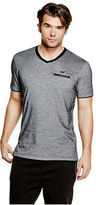 GUESS Men's Skyler Marled V-Neck Tee