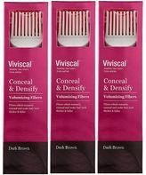 Viviscal Conceal & Densify Volumizing Hair Fibres - Dark Brown (3 pack)