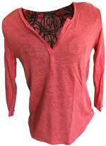 Pablo Red Linen Top for Women
