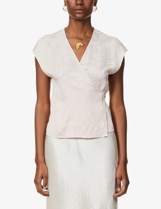Samsoe & Samsoe Floral-print sleeveless jacquard top