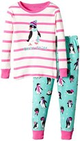 Hatley PJ Set (Toddler/Kid) - Pretty Penguins-8