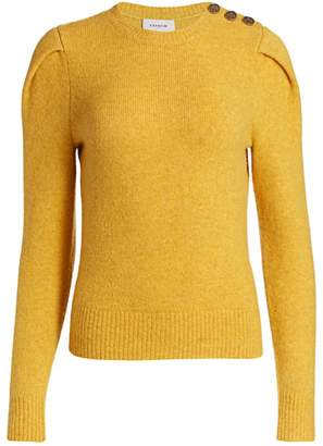 Coach Button-Trimmed Wool & Cashmere Sweater
