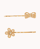 Forever 21 Faux Pearl Hair Pin Set