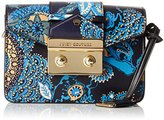 Juicy Couture Leather Mini Clutch with Flap Closure and a Gold Chain
