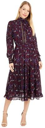 MICHAEL Michael Kors Zinnia Paisley Dress (Azalea) Women's Clothing