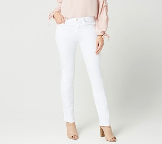 JEN7 by 7 For All Mankind Slim Straight Jeans -White