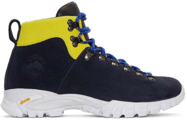 Diemme Navy Suede Maser Hiker Lace-Up Boots