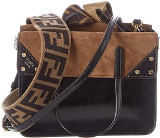 Fendi Flip Small Leather & Suede Shoulder Bag