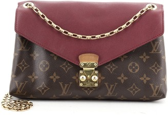 Louis Vuitton Pallas Chain Shoulder Bag Monogram Canvas and Calfskin