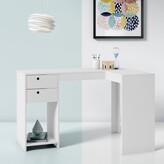 Angelica L-Shape Credenza Desk Hashtag Home Color: Tobacco