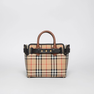 Burberry The Mini Vintage Check Triple Stud Belt Bag