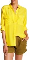 Tommy Bahama Long Sleeve Pocket Silk Blouse